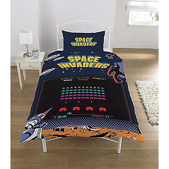 Space Invaders Single Duvet Cover