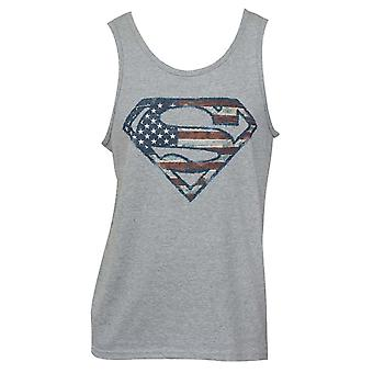 Superman Amerikaanse vlag Logo Tank Top