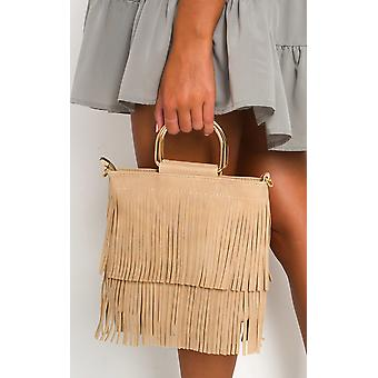 IKRUSH Womens Ani Fringe Tassel Bag