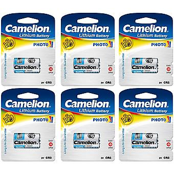 6x Battery CR2 Camelion 3V Lithium Batteries