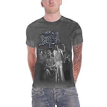 Death T Shirt Spiritual Healing Band Logo new Official Mens Vintage Wash
