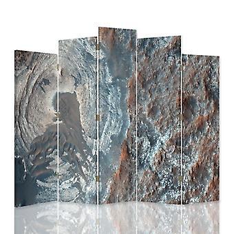 Dekorativa rumsavdelare, 5 paneler, duk, strukturell abstraktion