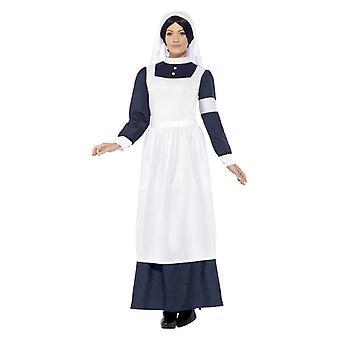 Womens groote oorlog verpleegkundige Fancy Dress kostuum