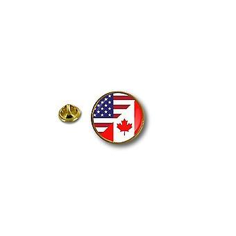 Pine Pines PIN rinta nappi PIN-apos; s Metal biker lippu USA Kanada Kanadan Yhdysvallat