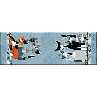 Rosina Wachtmeister Siamo in sei Fußmatte 60x180 cm Schmutzfangmatte waschbar
