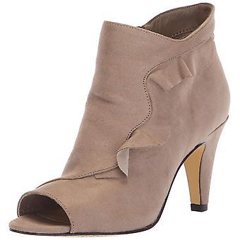 Bella Vita Womens Nicolette Leather Peep Toe Ankle Fashion Boots