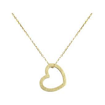 Collana GEMSHINE ciondolo solido 925 argento, oro placcato o rosa OPEN HEART