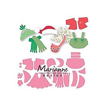 Abiti di Marianne Design Collectables Eline morire, metallo, rosa, 21,1 x 15,5 x 0,2 cm