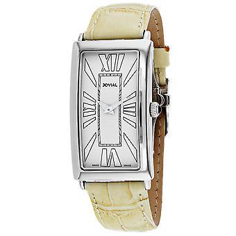 Jovial Men's Classic Beige Dial Watch - 08036-MSL-10