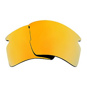 Polarized Replacement Lenses for Oakley Flak 2.0 XL Sunglasses Gold Anti-Scratch Anti-Glare UV400 by SeekOptics