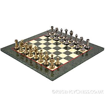 Finnesburg Brass and Olive Luxury Chess Set