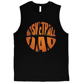 Basketball Dad Mens Black Cool Sporty Fun Muscle Shirt Dad Gift