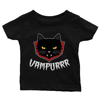 Vampurrr Funny Halloween kostume cute grafisk design baby gave tee sort