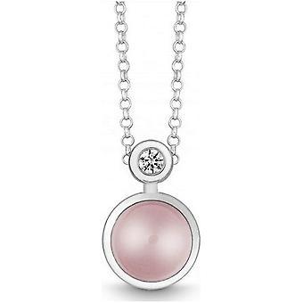 QUINN - Necklace - Silver - Diamond - Pink Quartz - Wess. (H) - 27191930