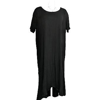 Isaac Mizrahi żyć! Drobna sukienka 1XP Rękaw łokciowy Dzianina Czarna A308002