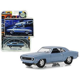 1969 Chevrolet Camaro Steel Blue Bowtie Pastya Bfgoodrich Vintage Ad Cars Hobby Exclusive 1/64 Diecast Model Car By Greenlight