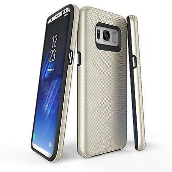 لسامسونج غالاكسي S8 القضية، الذهب درع واقية غطاء الهاتف سليم دائم