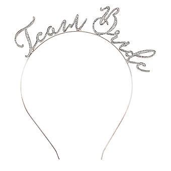 CGB Giftware CM Pink Glitter Team Bride Headband