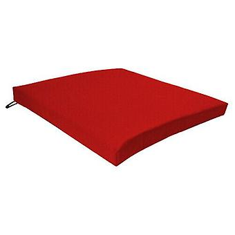 Red Seat Chair Cushion Outdoor Garden Tie On Waterproof Pad Removable Cover