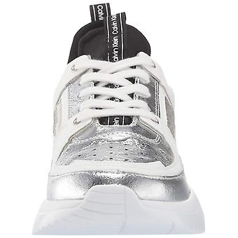 Calvin Klein Womens Neoprene Low Top Lace Up Fashion Sneakers
