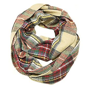Bowbear Soft Touch Winter Warm Tartan Infinity Scarf, Red, Green, Size One Size