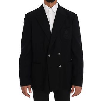 Dolce & Gabbana Black Double Breasted Wool Blazer
