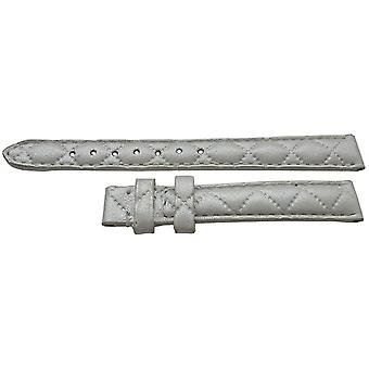 Authentic tissot watch strap silver calf 12mm