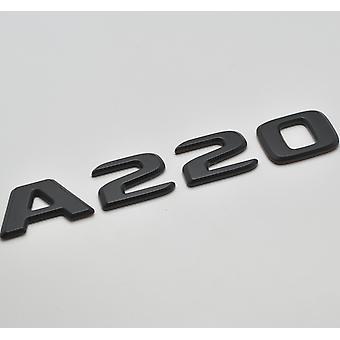 Matt Preto A220 Flat Mercedes Benz Carro Modelo Traseiro Boot Número de Placa Decal Badge Emblema de Emblema para uma classe W176 W177 AMG