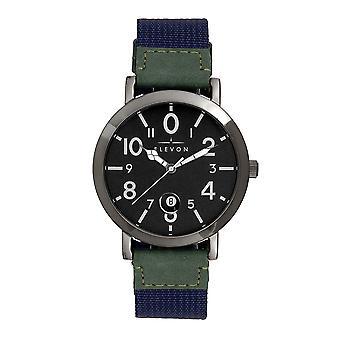 Elevon Mach 5 Canvas-Band Watch w/Date - Blue