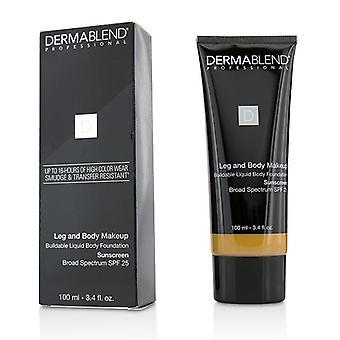 Leg and Body Make Up Buildable Liquid Body Foundation Sunscreen Broad Spectrum Spf 25 - #tan Honey 45w - 100ml/3.4oz