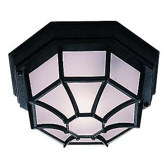 Outdoor & Porch - Black Flush Light