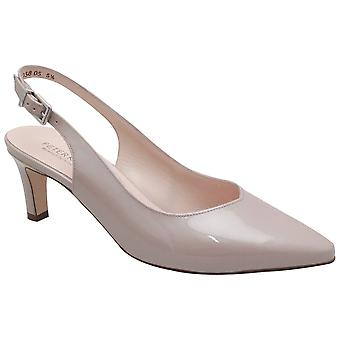 Peter Kaiser Medana Mauve Patent Leather Sling Back Low Heel