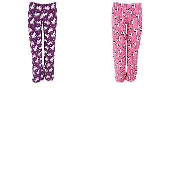 Selena Secrets Womens/Ladies Unicorn/Llama Pyjama Bottoms