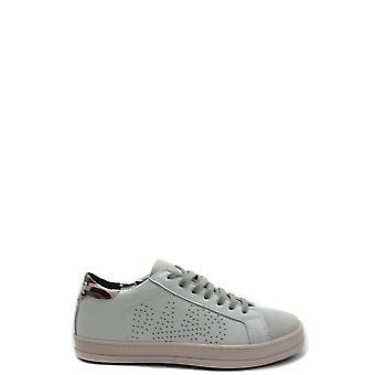 P448 Ezbc283013 Women's White Leather Sneakers
