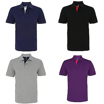 Asquith & Fox Mens Classic Fit Kontrast Polo-Shirt