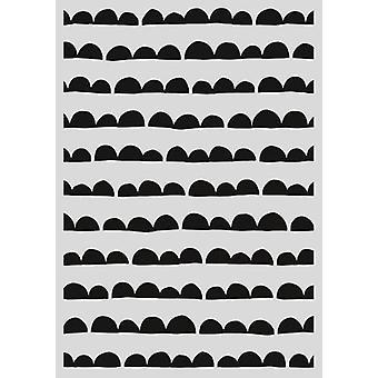 Pronty Mask stencil - Scallop stripe 470.803.034 - A4