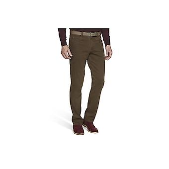 Meyer Diego Cotton Trousers Brown
