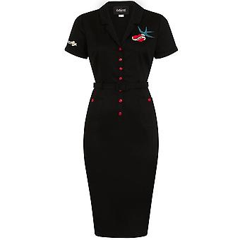 Collectif Clothing Caterina True Love Pencil Dress