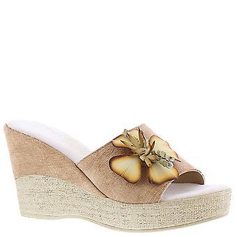Easy Street Womens Castello Open Toe Casual Platform Sandals