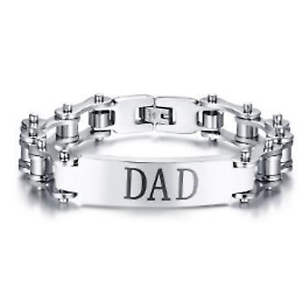 Metal bike link dad bracelet