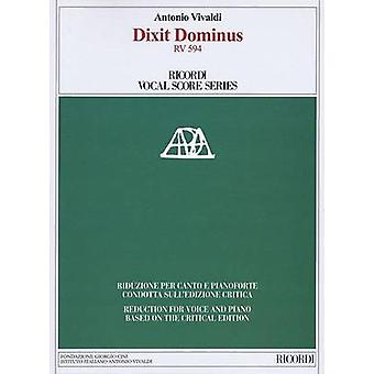 Dixit Dominus RV 594 - Ricordi Vocal Score Series by Antonio Vivaldi -