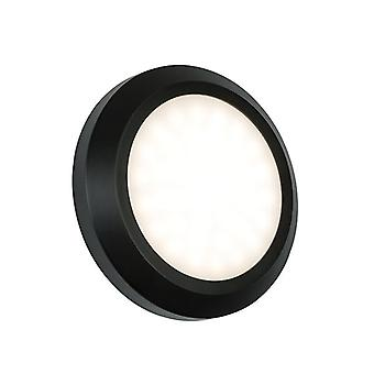 Saxby Lighting Severus integrado LED 1 luz al aire libre luz de pared negro Abs plástico, esmerilado IP65 61220