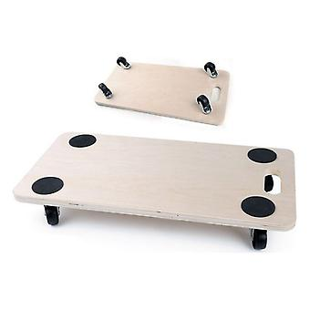 Wooden Base with Wheels Bricotech (57,5 x 29 x 1,8 cm)