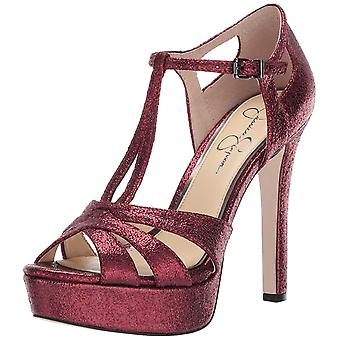 Jessica Simpson Womens Bryanne Fabric Pointed Toe Ankle Strap Classic Pumps