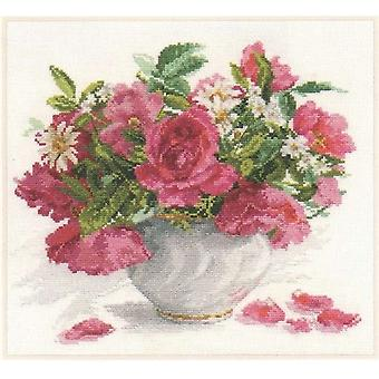 Kit Alisa Cross Stitch - Rosas e Margaridas