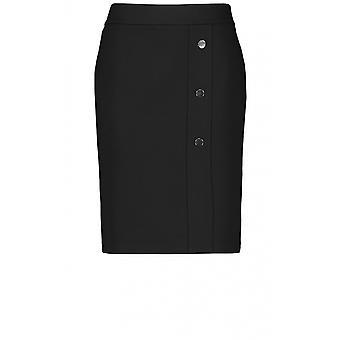 Taifun Black Knee Length Skirt