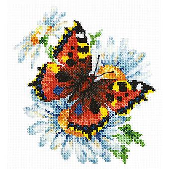 Magic Needle Cross Stitch - Butterfly and Daisies