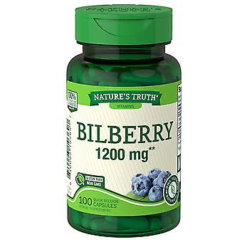 Nature's truth bilberry, 1200 mg, quick release capsules, 100 ea