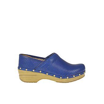 Dansko Ezgl296021 Femmes-apos;s Blue Leather Slippers