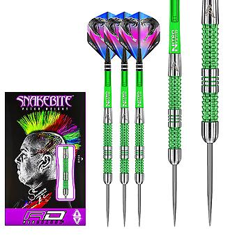 RED DRAGON Peter Wright Snakebite Mamba - 90% Tungsten Steel Darts with Flights & Shafts
